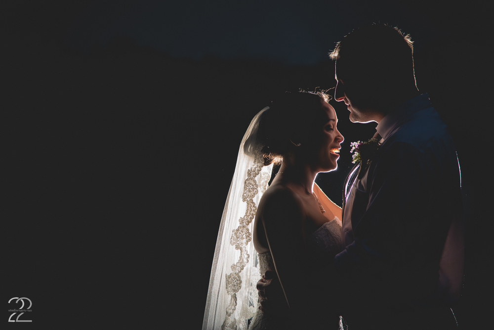 Nighttime Wedding Portraits