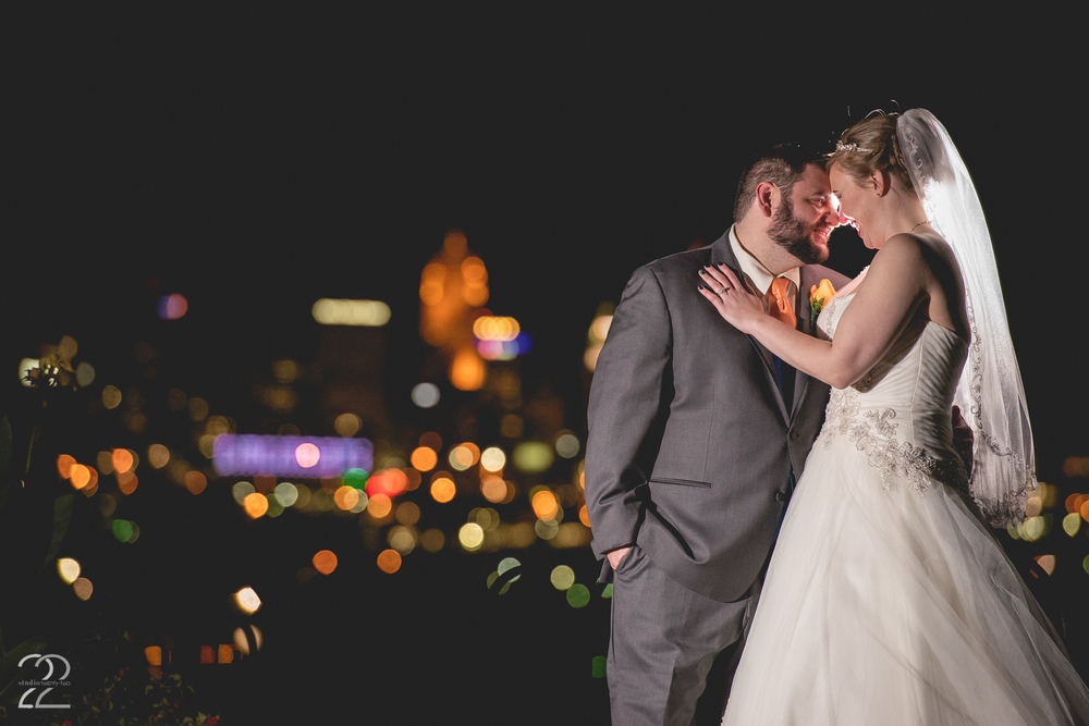 Cincinnati Skyline Wedding
