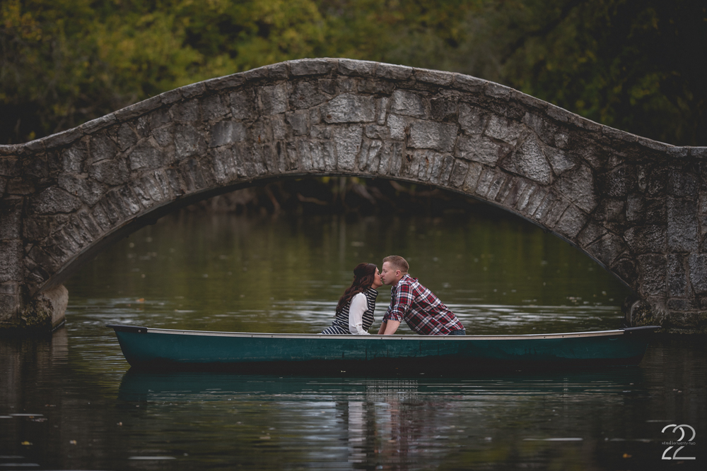 Engagement Photos with Canoes