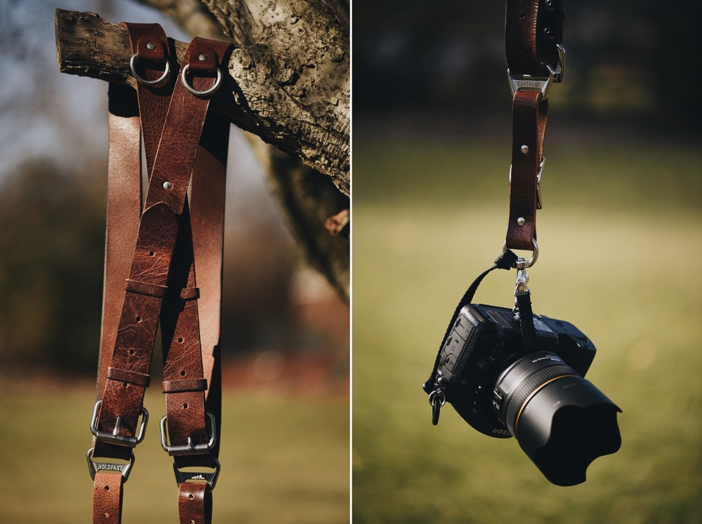 As a destination wedding photographer, I carry two cameras with me throughout a wedding day. A dual camera strap system is crucial for me, so I can remain hands-free while I assist my bride and set up shots. Unlike many other straps on the market, the Holdfast MoneyMaker gives me the assurance that as I move and work throughout a wedding, my straps won't lengthen from the weight of my cameras, the balanced weight of the straps alleviates discomfort from bearing the weight of two camera systems, and I have the assurance that my gear isn't going anywhere with the dual-safety features. I need my gear at the ready, and an excellent camera strap is crucial to that.