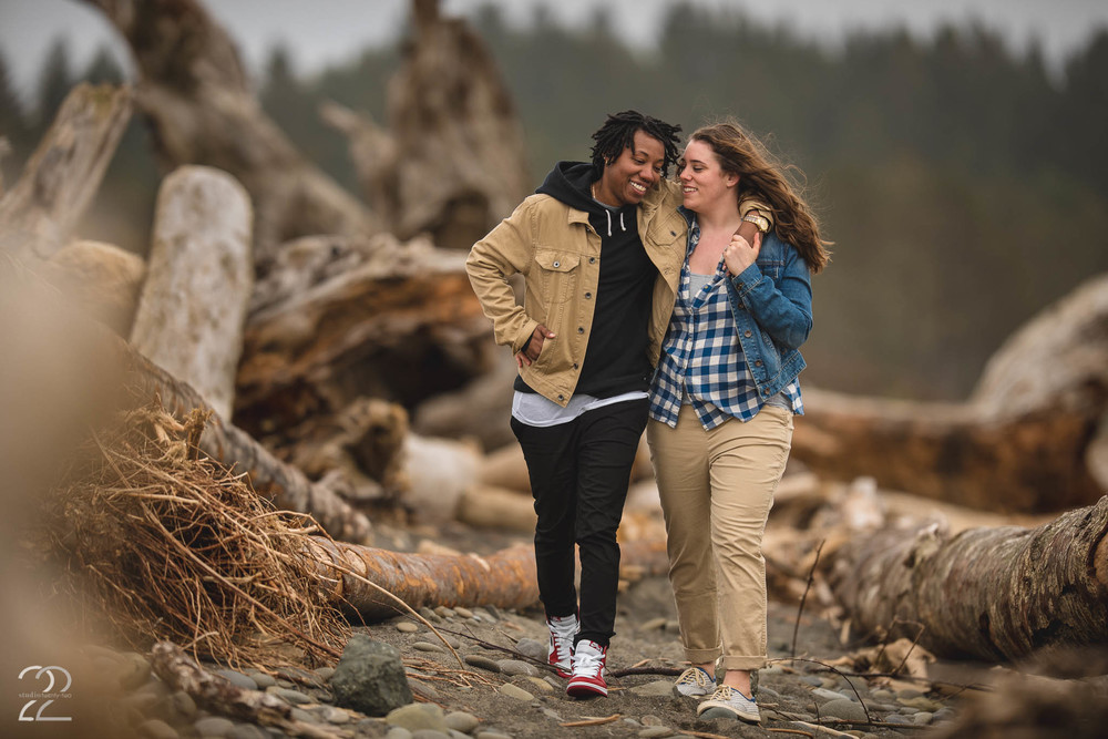 La Push Beach Engagement Photography