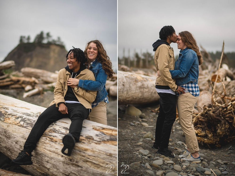 La Push Beach | Washington Coast Engagement | Seattle Wedding Photographers | La Push Engagement