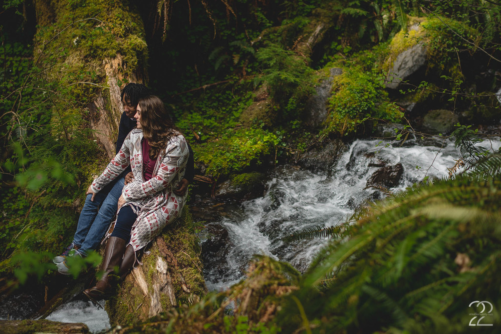 Hoh Rainforest Engagement | Seattle Wedding Photographers | Olympia Wedding Photographers