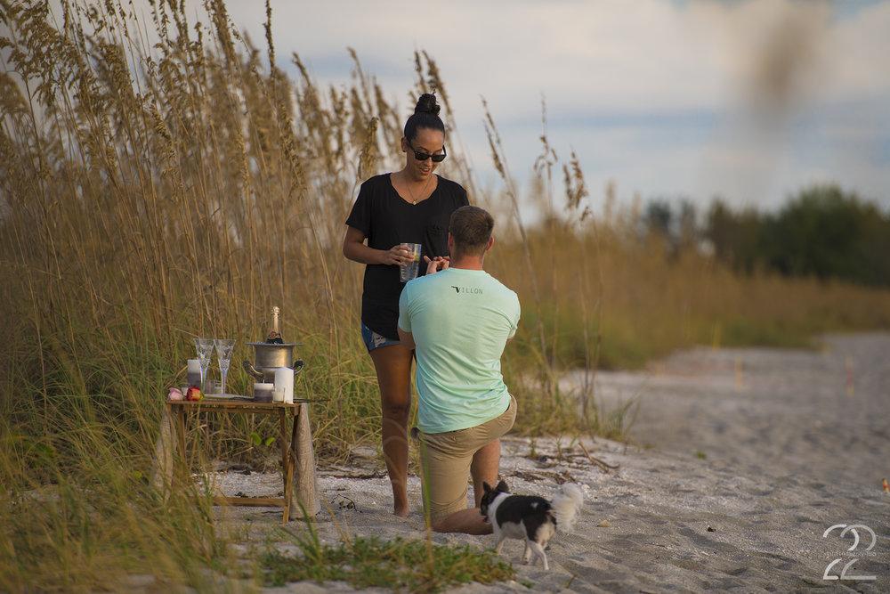 Sarasota Surprise Proposal | Sarasota Engagement Photos | Sarasota Wedding Photographers | Midnight Pass Engagement | Naples Wedding Photographers