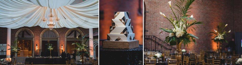 Dayton Art Institute Weddings | Rachel Bakes Wedding Cake | Prime Time Party Rental | Prime Time Party Rental Weddings | Dayton Wedding Receptions | Entertainment Unlimited Weddings