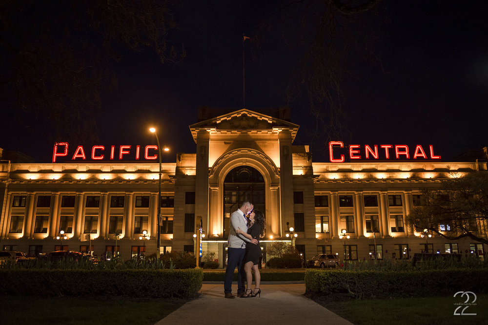 Pacific Central Engagement Photos | Downtown Vancouver Engagement Photo Locations | Vancouver Wedding Photographers | Vancouver Engagement Photos | Destination Wedding Photographers