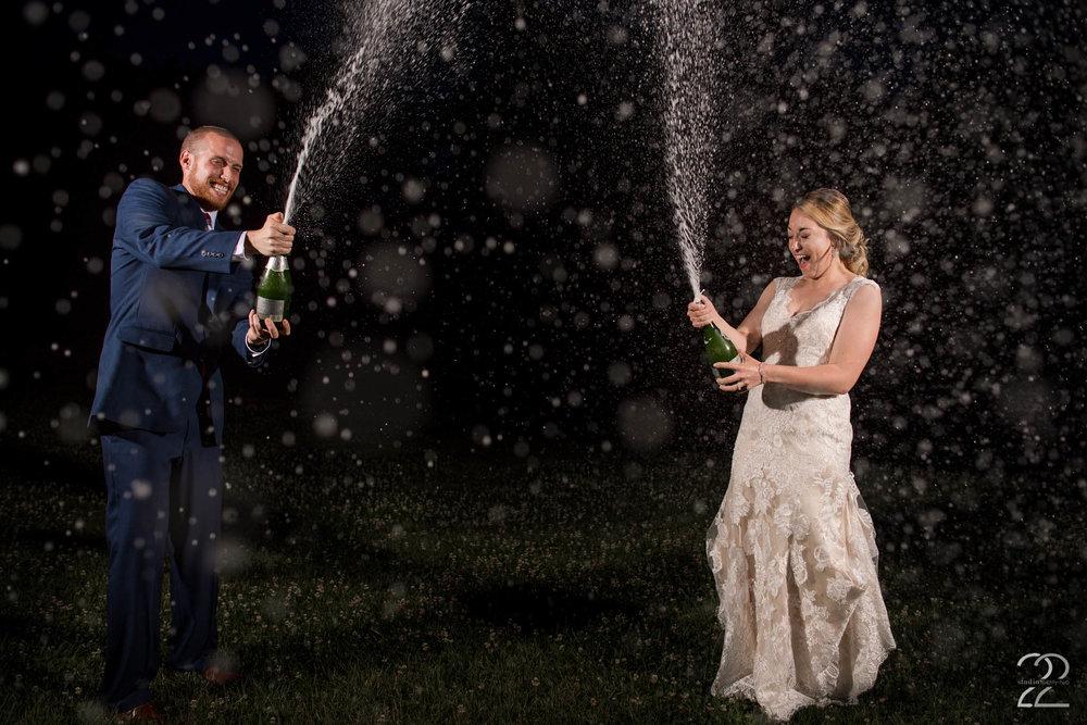 Champagne Shower Photos | Nighttime Wedding Photos | Canopy Creek Wedding Photos | Weddings at Canopy Creek Farm | Dayton Wedding Photographers | Seattle Wedding Photographers | Interfit Photographic S1 | Columbus Wedding Photographers