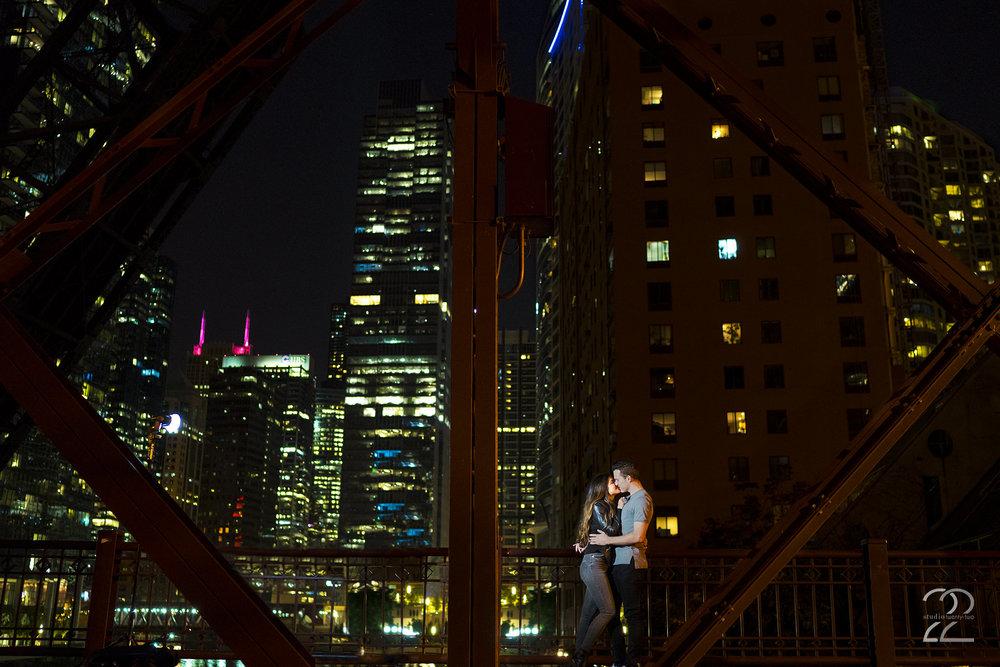 Kinzie Street Bridge Chicago | Kinzie Street Engagement Photo | Chicago Engagement Photos | Chicago Wedding Photographer | Portrait Photographers in Chicago