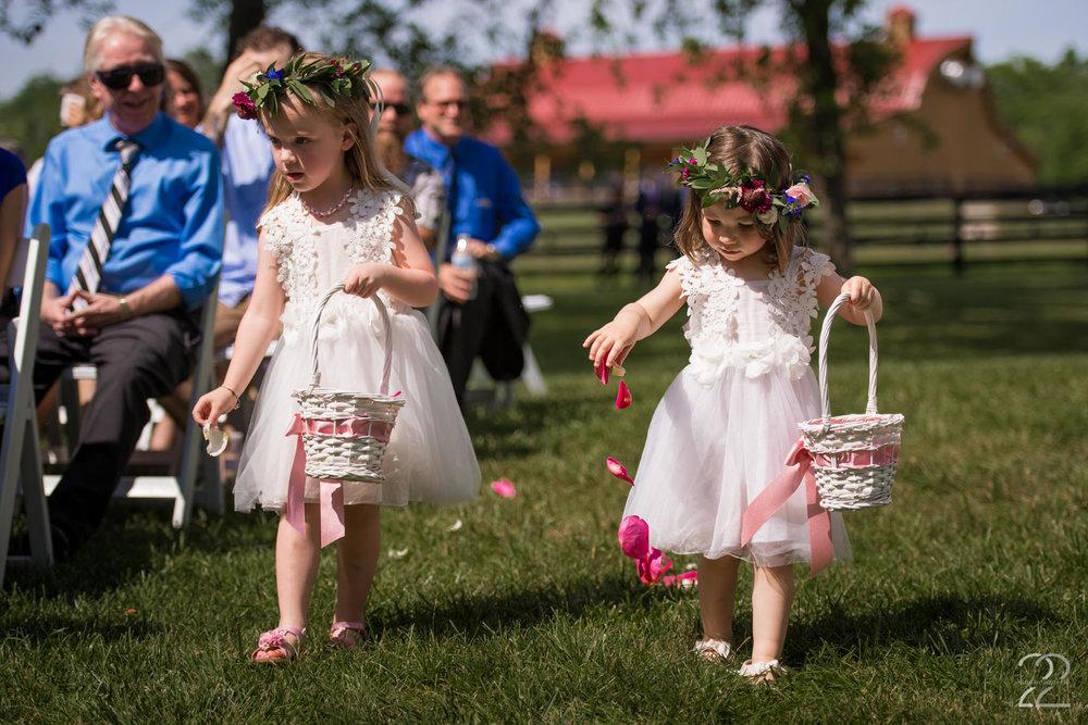 Dayton Wedding Photographer | Canopy Creek Farm Wedding Photos | Dayton Wedding Venues | Columbus Wedding Photographers | Flower Girl Wedding Photos