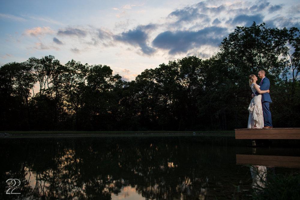 Canopy Creek Farm Wedding Photos | Dayton Wedding Photographers | Sunset Wedding Photos | Interfit Photographic S1 | Off Camera Flash Wedding Photos | Dayton Wedding Photography | Barn Wedding Photos