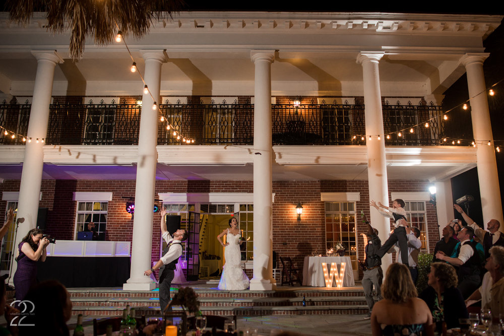 Bay Preserve at Osprey Wedding | Sarasota Wedding Photographers | Wedding Venues in Sarasota | Destination Wedding Photographers | Garter Toss Photos