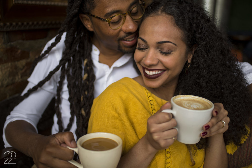 Ghostlight Coffee Dayton | Downtown Dayton Engagement | Engagement Photos in Dayton | Dayton Wedding Photographers | Columbus Wedding Photographers | Cozy Engagement Photos