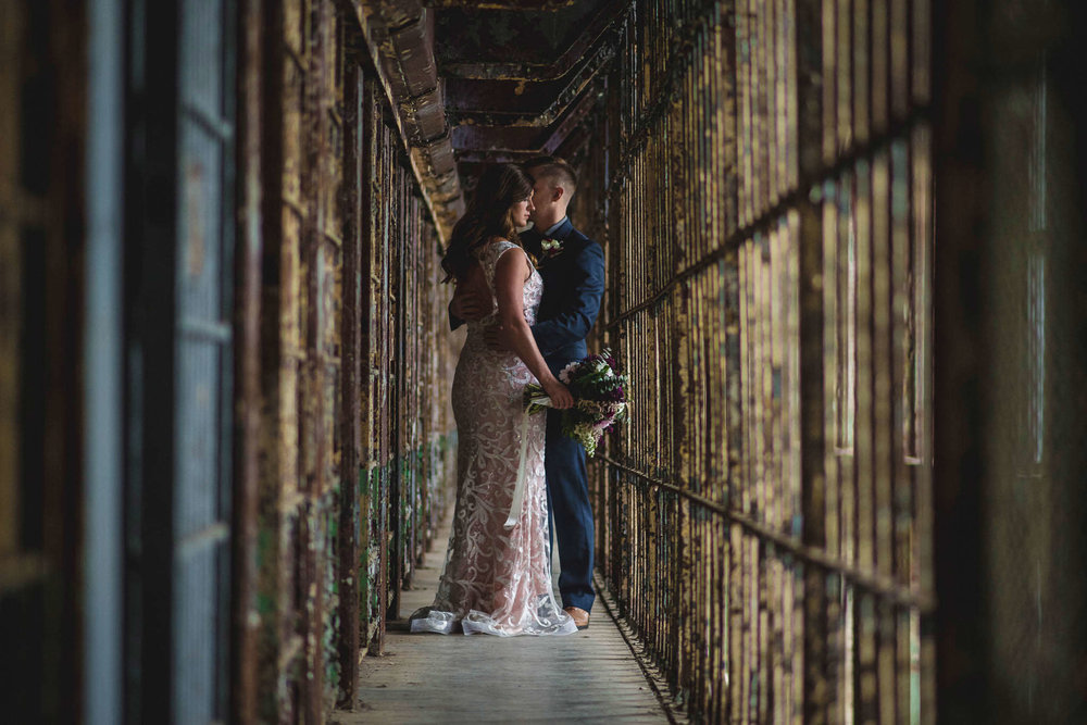 Unique Wedding Venues - Creative Wedding Photography - Studio 22 Photography - Ohio State Reformatory Wedding - Dayton Wedding Photographer - Ohio Wedding Photographer