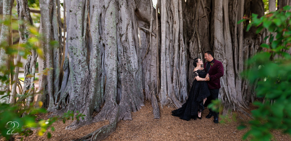 Banyan Trees are a huge staple of Florida life, and Doug + Brooke wanted to be sure to incorporate them into their wedding photography. And, to take it one step further, we went for a Brenizer Method image to really show off the scenery surrounding them! Naples is such a beautiful area, and the unique wedding inspiration that Brooke gave to their wedding was such a fun vibe to work with.