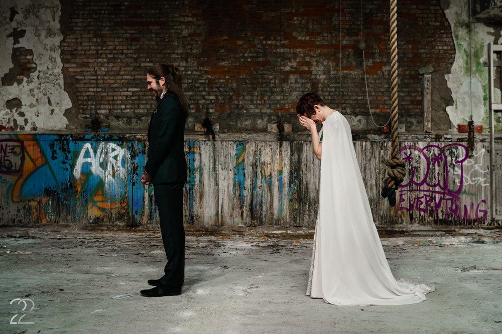 First Look Wedding Photos Cincinnati - Studio 22 Photography