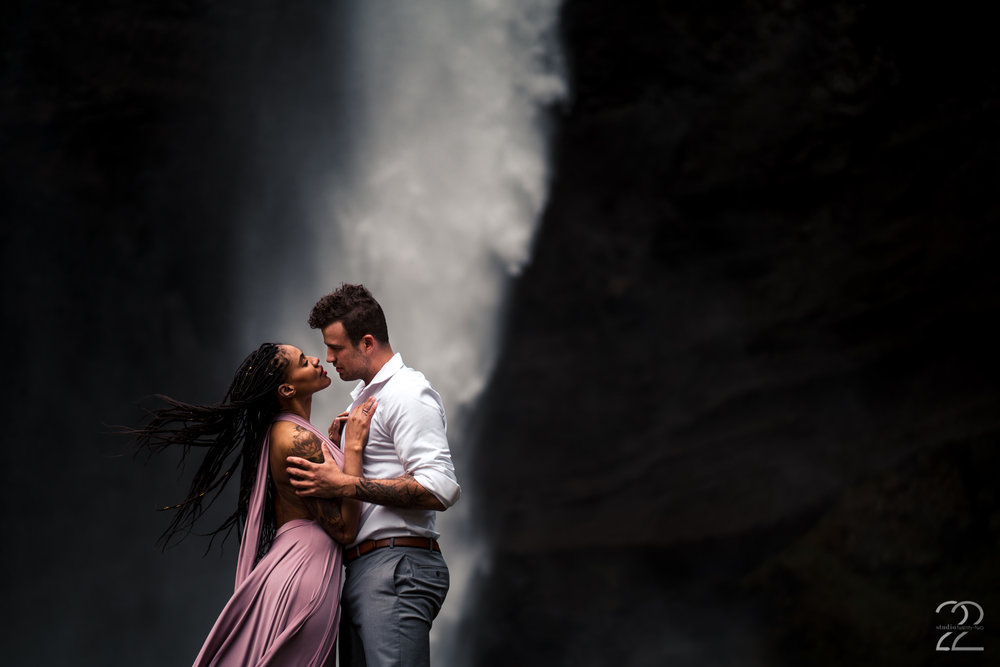 Swept away in a land far from home in each other's arms. Tanner and Aubin Wise (of the Chicago Hamilton cast) looked like they belonged in a fairytale on their couple's photoshoot in Iceland. Their strength and tenderness shone through each portrait.