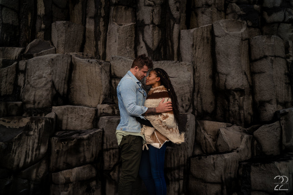 Reynisfjara Beach in Iceland is spectacular to begin with, add a beautiful couple who have incredible chemistry and who are willing to give Megan Allen of Studio 22 the reins and you get a piece of art.