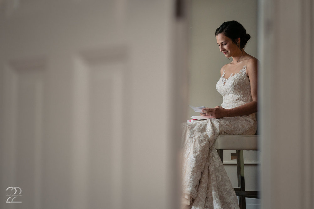 Studio 22 wants to capture those quiet moments for you to look back on. Here Morgan was taking a minute to herself to read the letter from Caleb before her ceremony at French Park in Cincinnati.