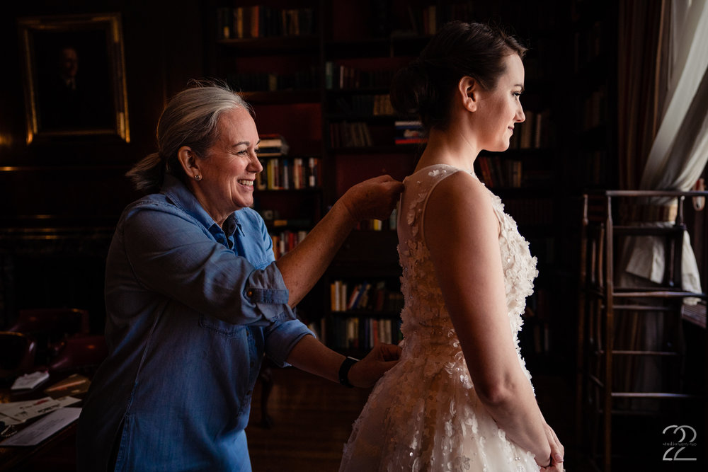 What can be more poetic than getting ready to start the new chapter in your own fairytale than getting ready in a library. The 2 West Club in New York City was the perfect spot for Kenton and Sarah's wedding.