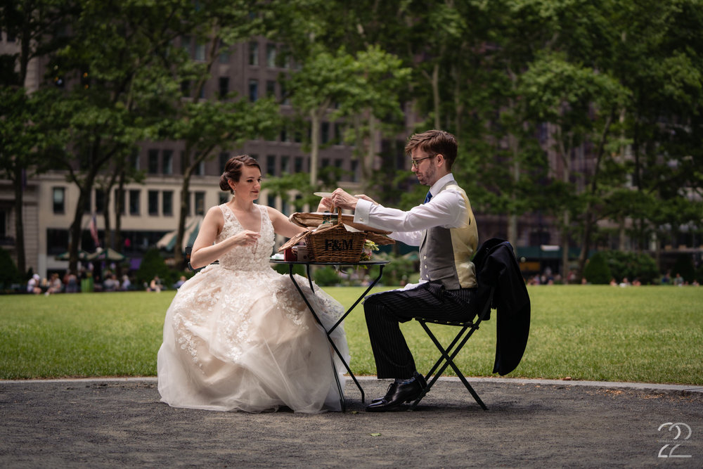 Bryant Park Wedding Photos