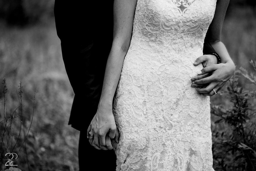 The tender strength of a lovers hands captured by Megan Allen at Caleb and Morgan's wedding in Cincinnati, Ohio