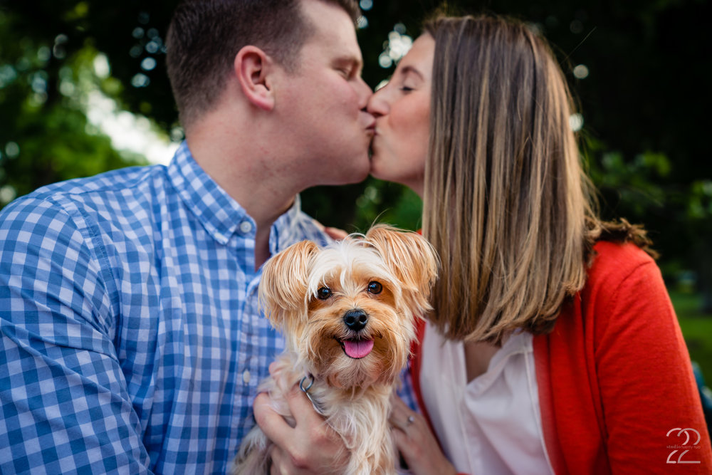 We had so much fun shooting these engagement photos in Columbus at Schiller Park. Taylor and Kristen's dog Millie just added a cherry on top!