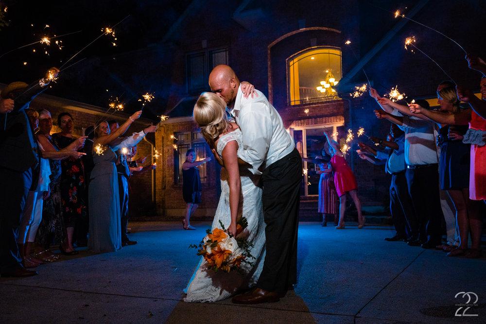 Sparkler Exit Wedding Photos