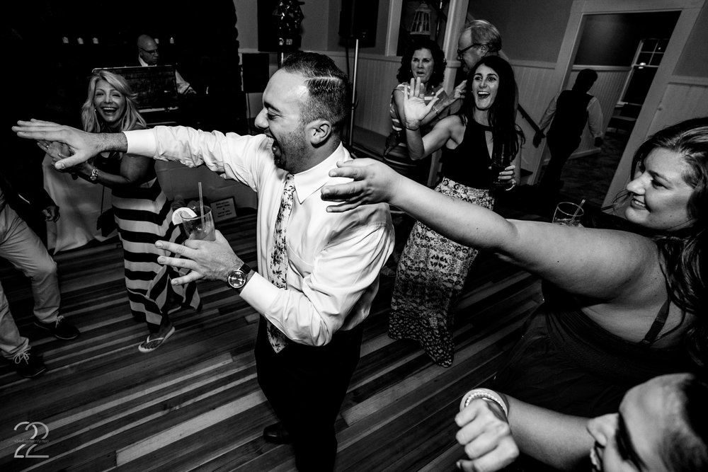 Fred Pappalardo kept the party going all night at the York Golf & Tennis Club in Maine.