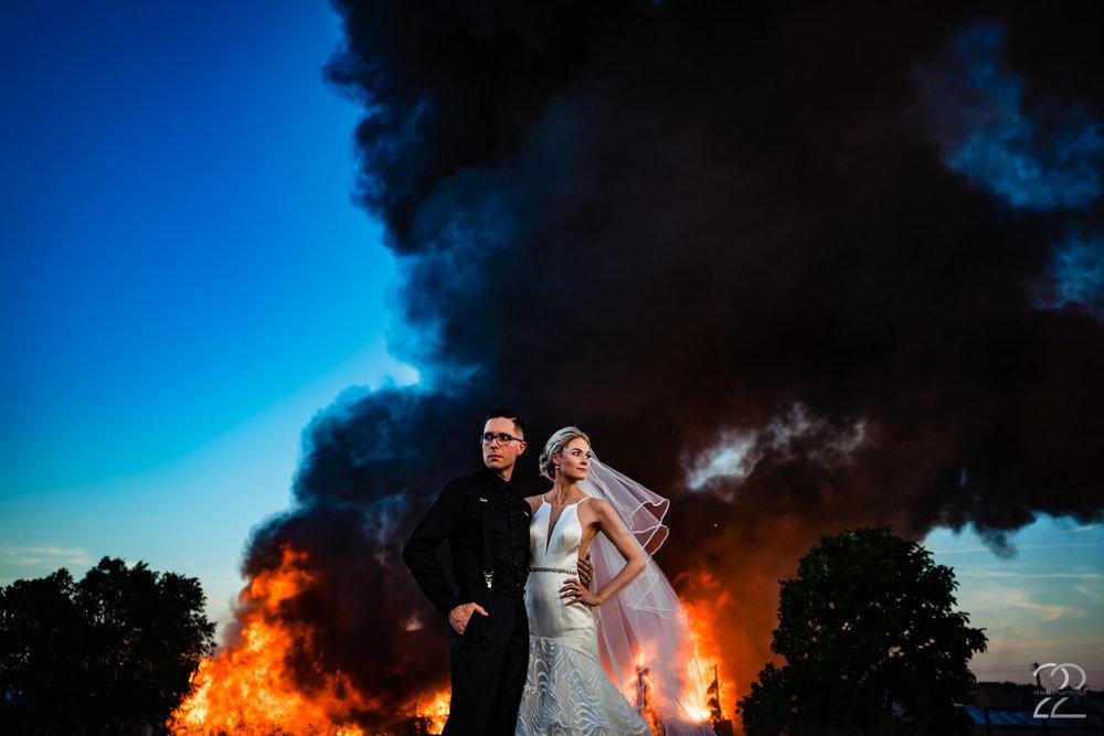 Fire Wedding Photo