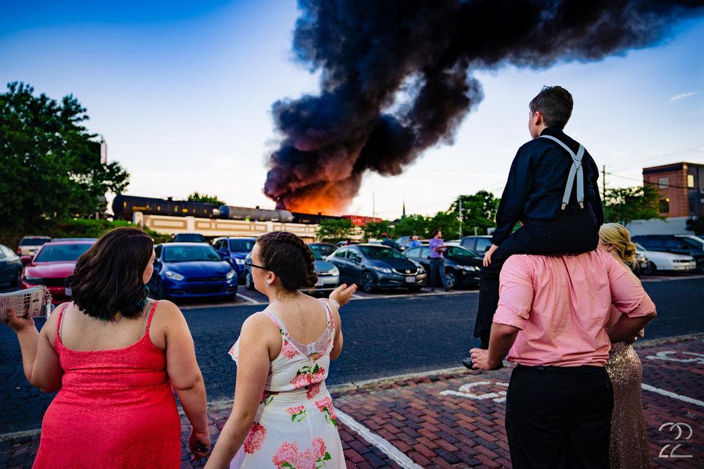 Dayton Fire Wedding Photo