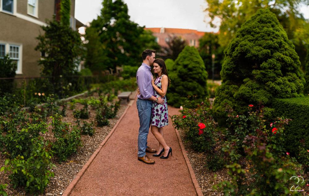 Merrick Rose Garden Engagement Photos
