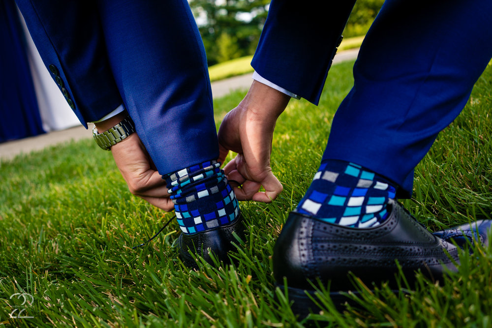 A wedding is a day that is made up of millions of tiny details (right down the the socks on your groom's feet). This is why Studio 22 Photography makes sure to have an eye out for all the microscopic details that create your magical day. Sung and Annie had a perfect day at Drees Pavillion in Kentucky.