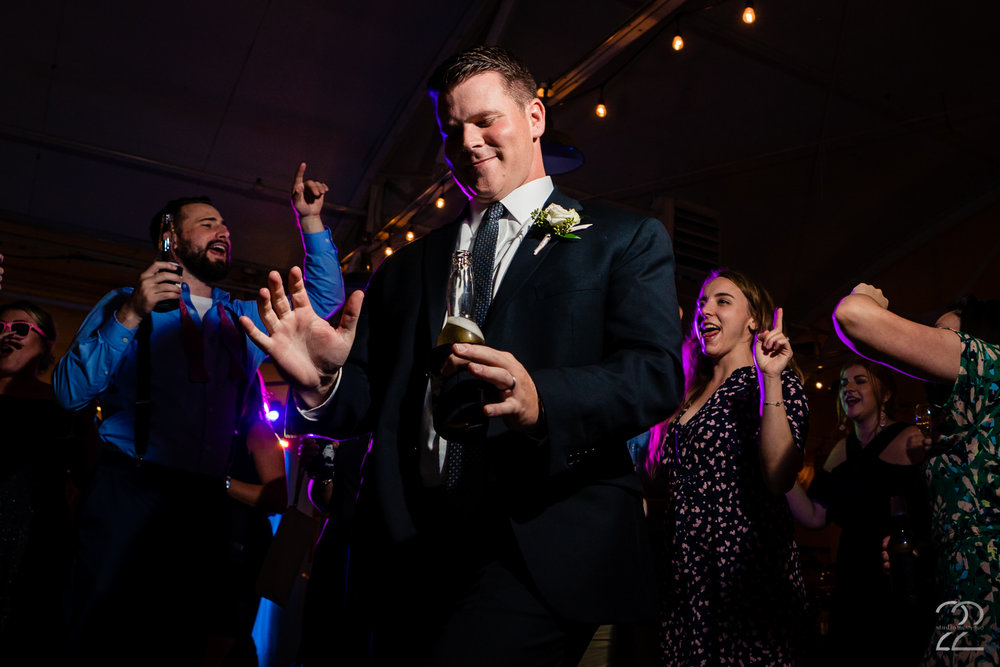 Despite being swamped on your wedding day and wanting to make sure you see all of your guests, make sure you take time to enjoy your day! You have spent endless hours and countless dollars to create your perfect party, so get down and live it up like Taylor did at his Dayton,Ohio wedding.