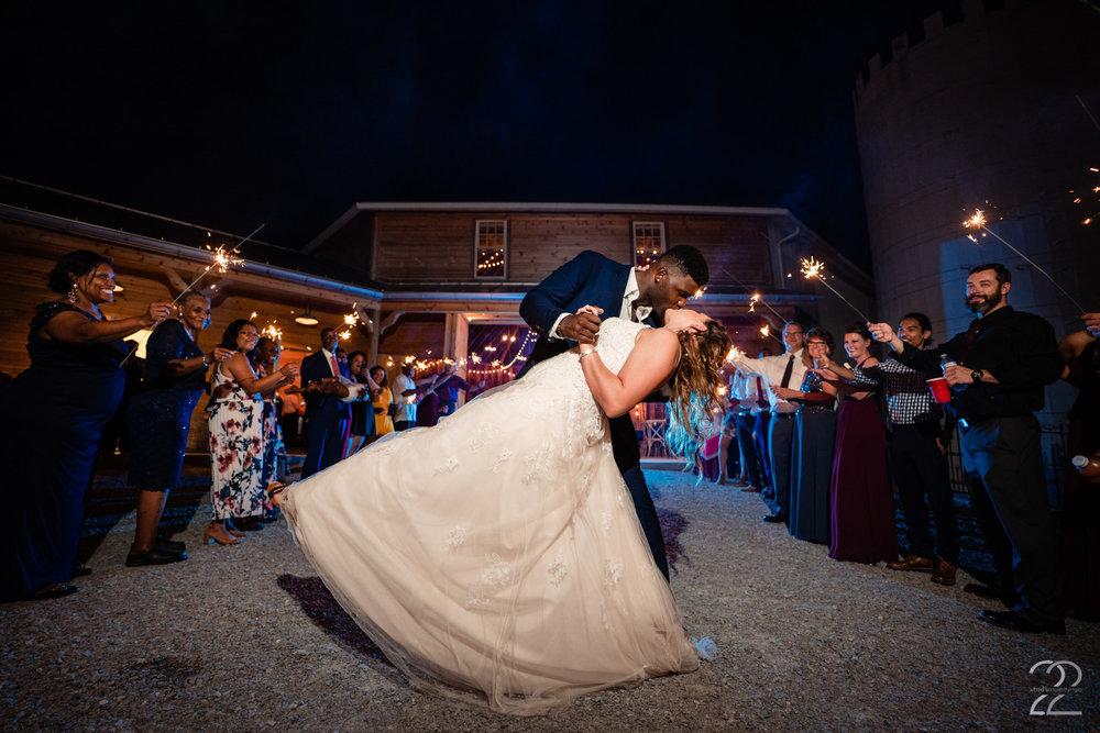 Orrmont Estate Wedding - Sparkler Exit Wedding Photos - Studio 22 Photography