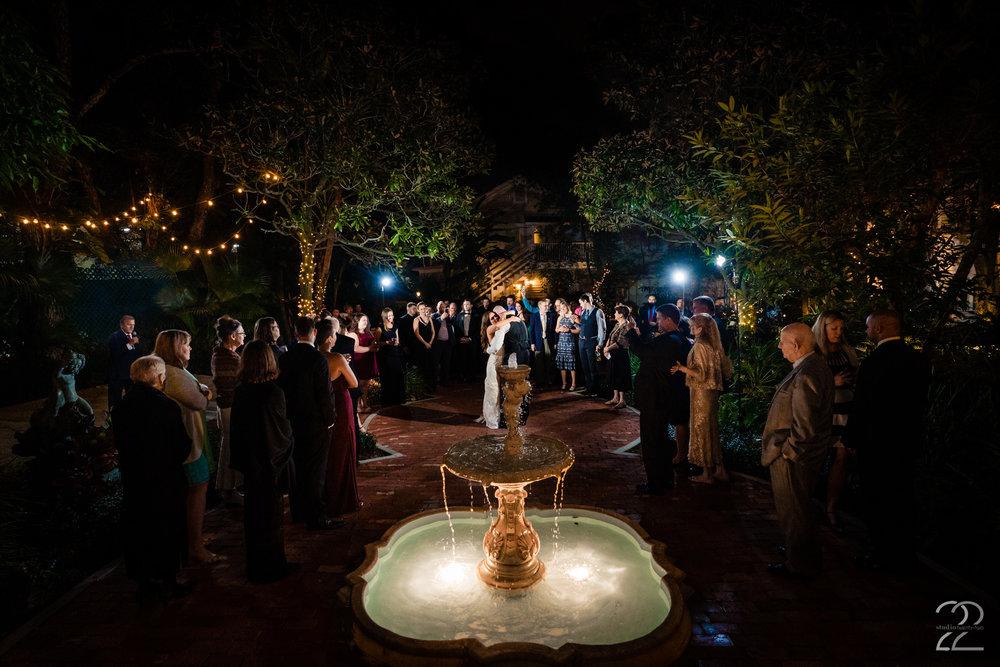 Courtyard at Lake Lucerne Wedding