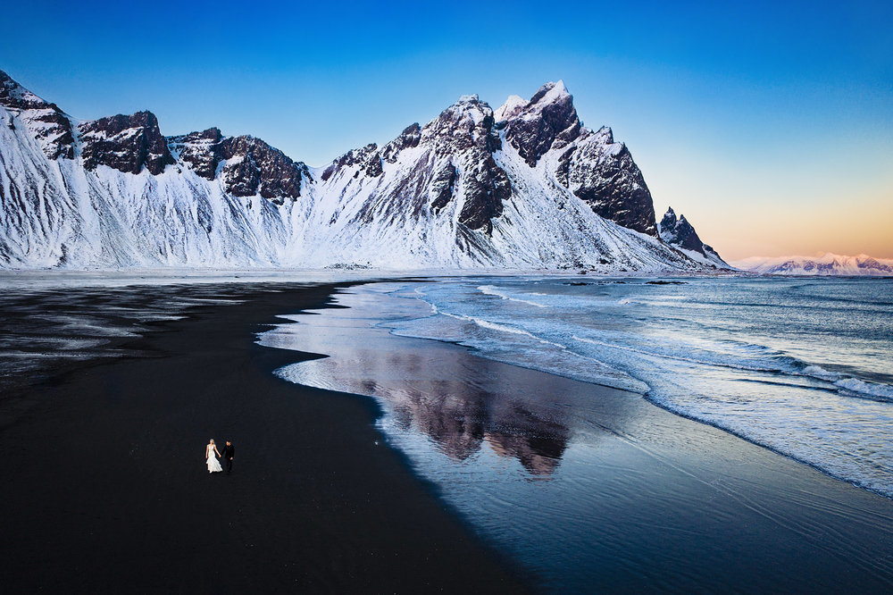 Vestrahorn Iceland Wedding