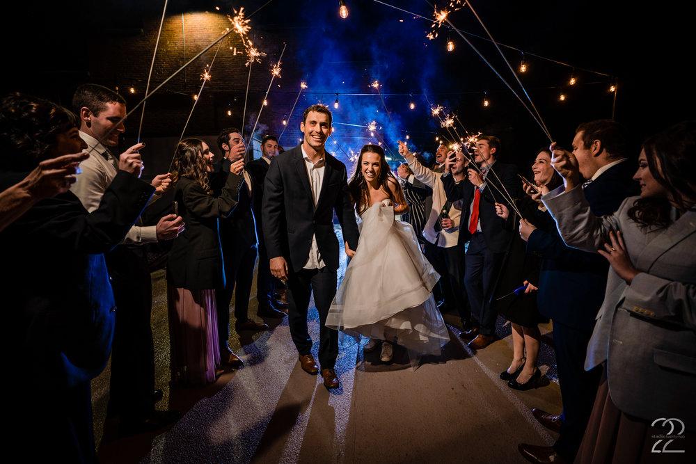 Top of the Market Wedding Photos - Sparkler Exit Wedding Photos - Studio 22 Photography