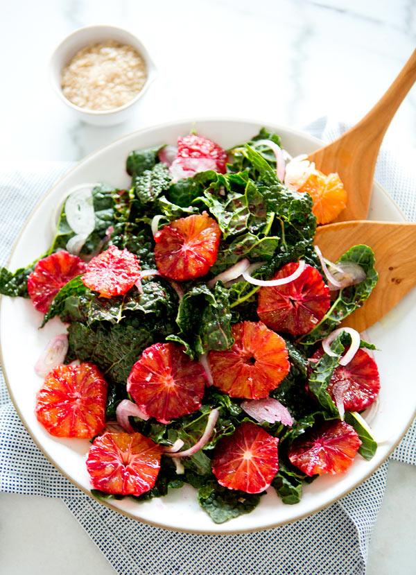 Kale and Blood Orange Kale Salad
