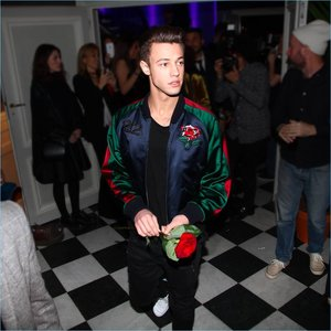 212 VIP x Carolina Herrera - I worked with stylist Elin Svahn to help create a custom patch made out of peonies and birds to imitate a vintage japanese bomber jacket worn by Cameron Dallas for Own The Party.