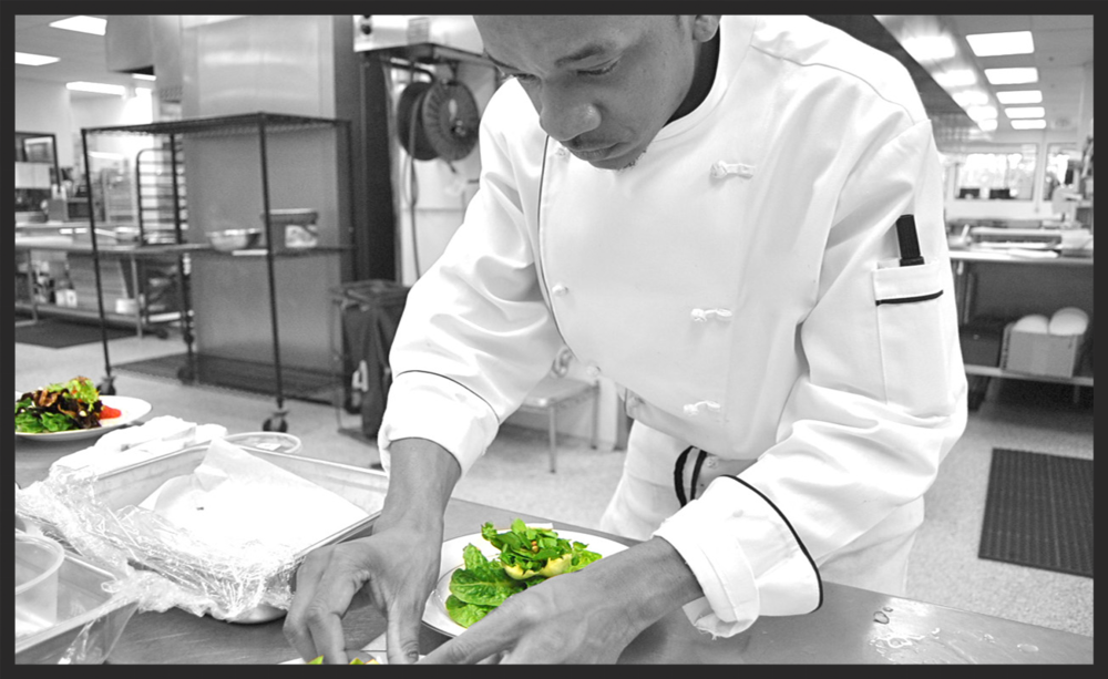 During Chef Kyler's Time as a Sous Chef for Windows Catering