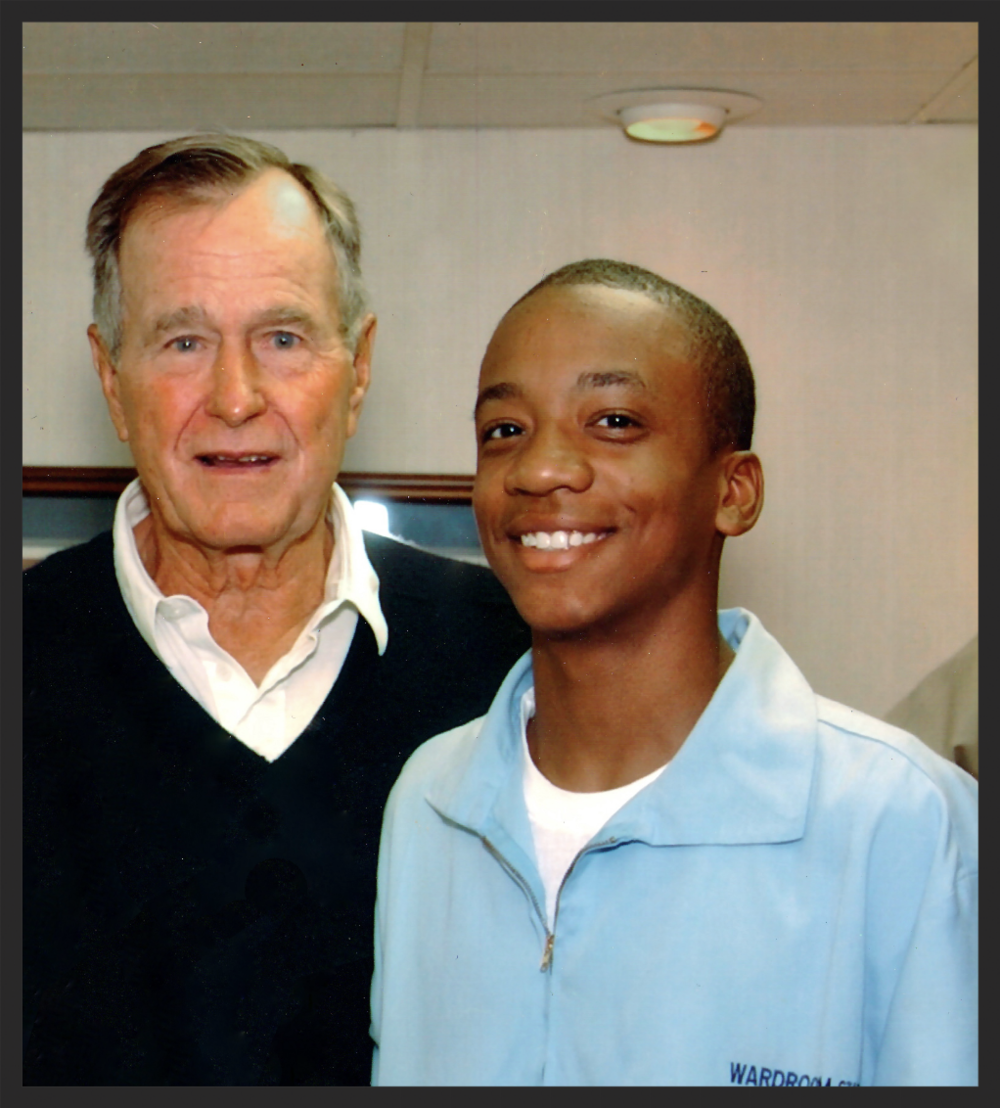 Chef Kyler cooks a private dinner for President G.W. Bush Sr.