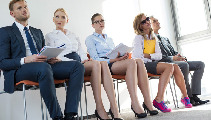 applicants waiting for interview