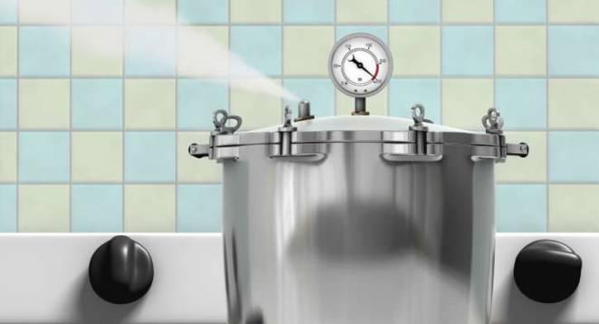 pressure cooker blowing