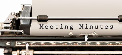 minutes of the meeting typewriter