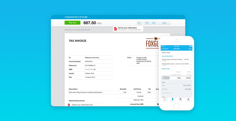 xero invoicing construction