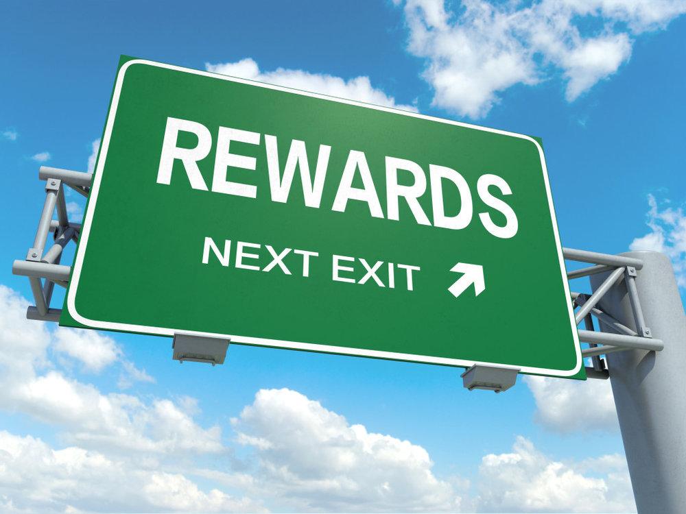 rewards signage