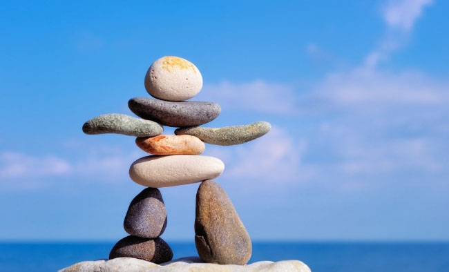 stones in a balance