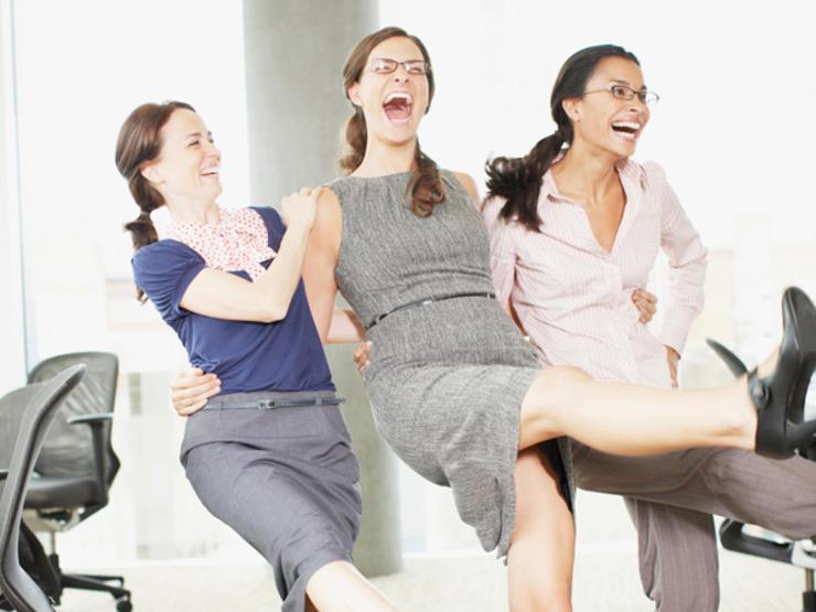 happy women professionals