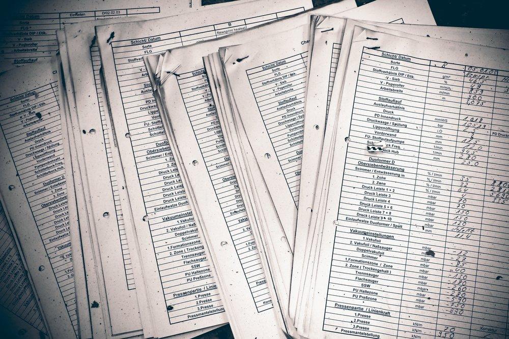 customer records files