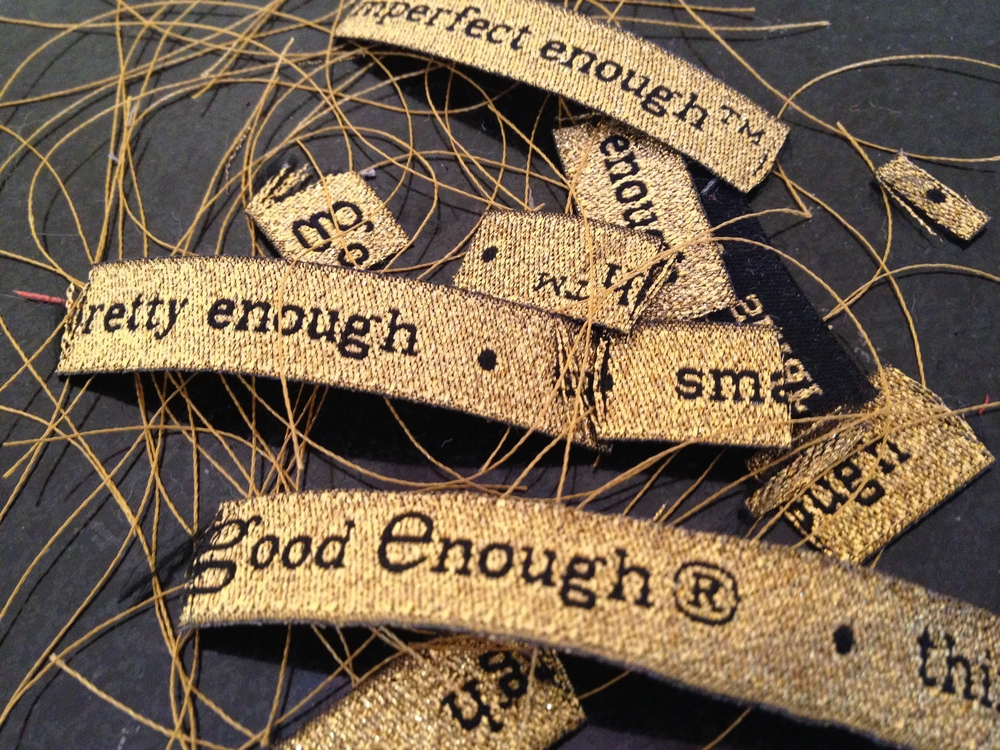 One of my favorite things to work with during the design process is the  GEN Ribbon of Phrases :)  Even the scraps!